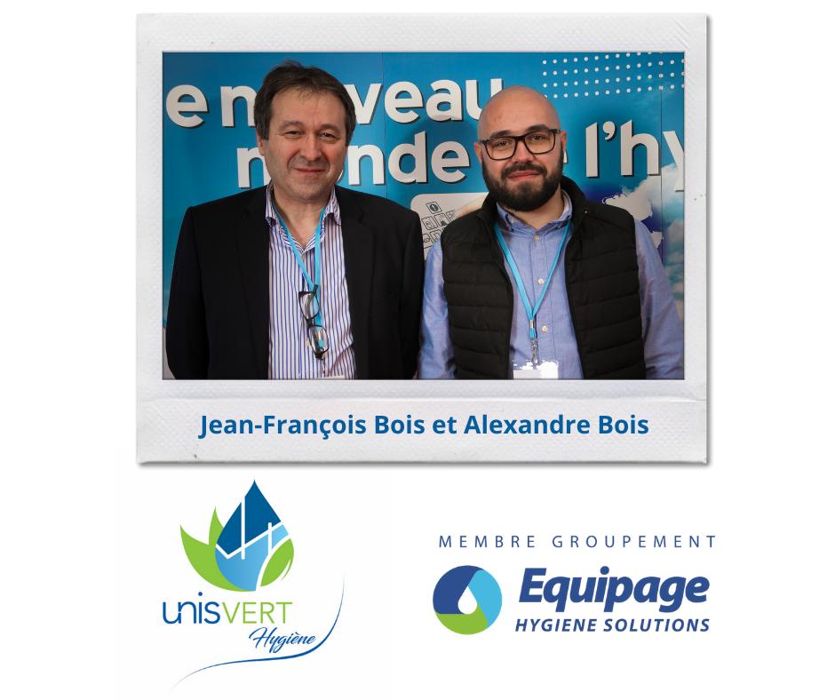 UnisVERT Hygiène Jean-François Bois et Alexandre Bois